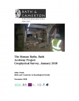 Roman Baths Archway Project Geophysical Survey