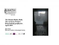 Roman Baths Archway Deep Geophysics